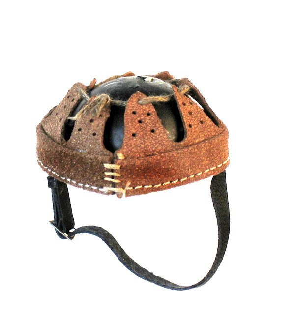 Helmet liner Brown leather - Click Image to Close
