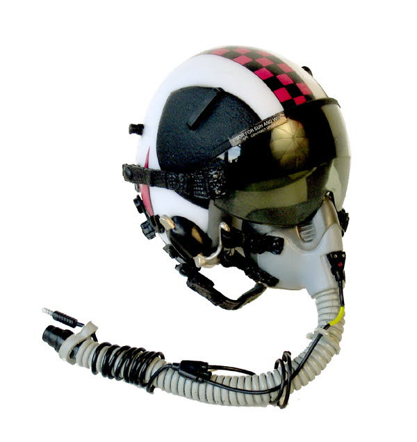 USN VF-24 pilot helmet with ox mask - Click Image to Close
