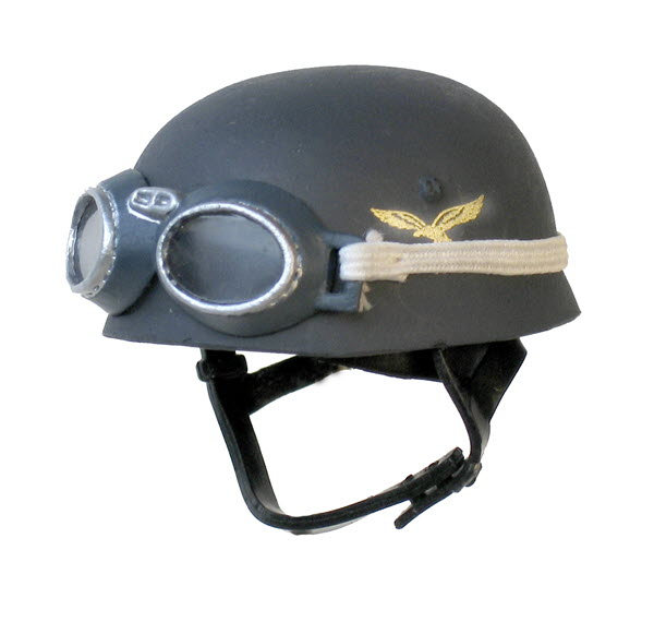 Luftwaffe paratrooper helmet with goggles - Click Image to Close