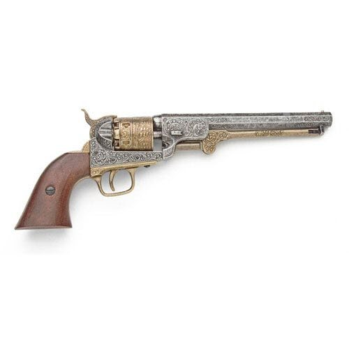 M1851 Navy pistol gold finish - Click Image to Close