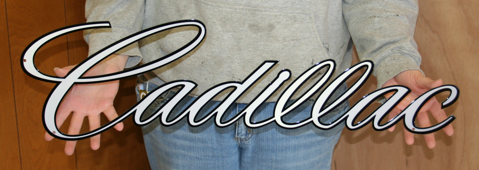 Cadillac Script Emblem sign - Click Image to Close