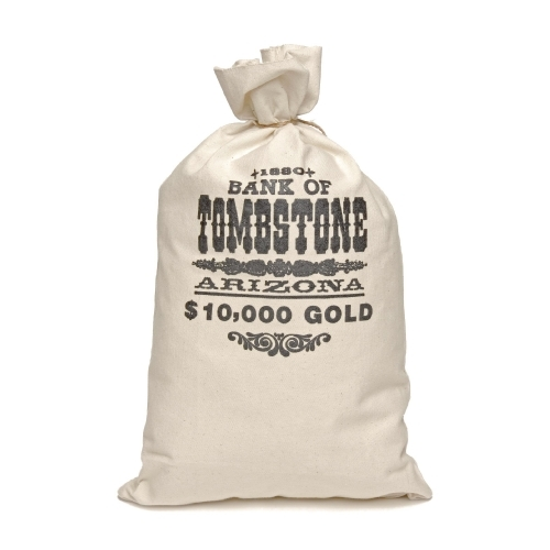 Bank of Tombstone money bag - Click Image to Close
