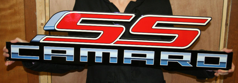 SS Camaro emblem sign - Click Image to Close