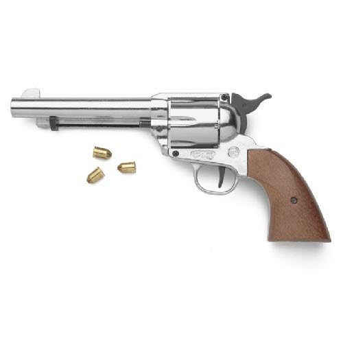 Old West M1873 Pistol Nickle finish - Click Image to Close