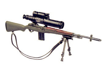 M-14 sniper rifle w/bipod and PVS-2 night scope