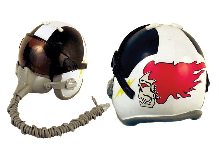 "U.S.M.C. ""Screaming Banshees"" pilot helmet - Click Image to Close"