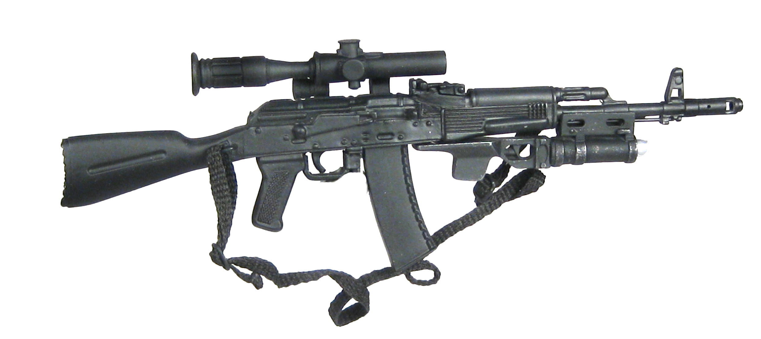 AKM-47 w/scope and launcher - Click Image to Close
