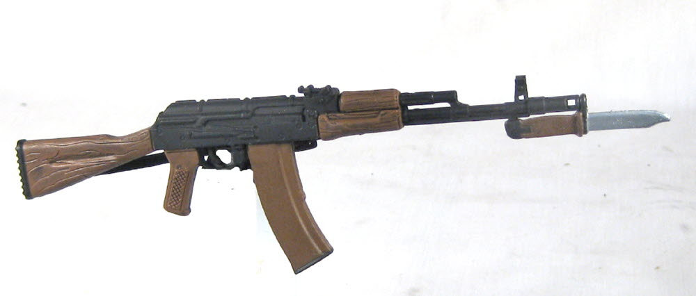 Russian AK-47 with solid stock and bayonet - Click Image to Close