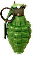 Grenade as loose item (inert )