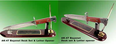 AK-47 bayonet as letter opener full size ( metal) - Click Image to Close