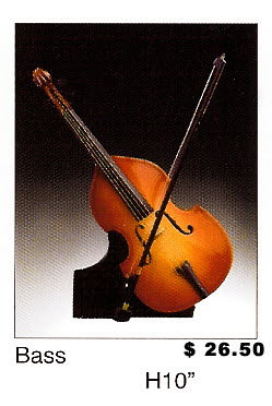 "Miniature Musical Instruments - Bass 10"" tall - Click Image to Close"
