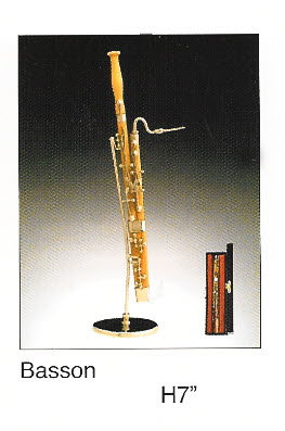 "Miniature Musical Instrument Bassoon 6.75"" - Click Image to Close"