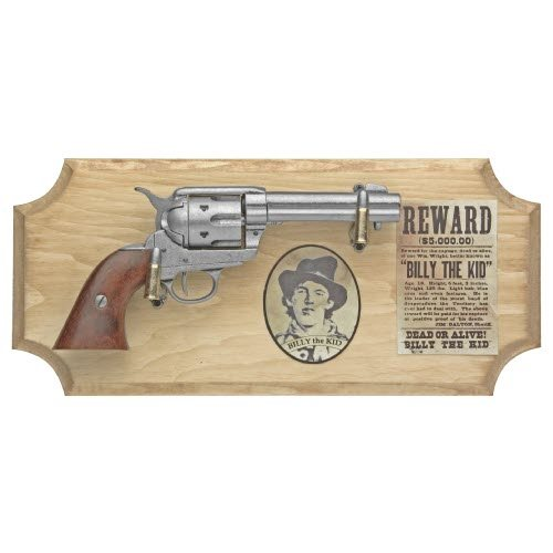 Billy the Kid six shooter ( framed ) metal - Click Image to Close