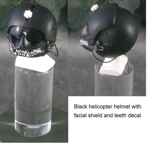 Black U.S.Army helicopter helmet - Click Image to Close