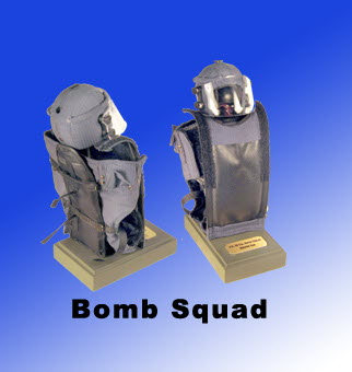 Police Bomb Squad uniform and helmet - Click Image to Close