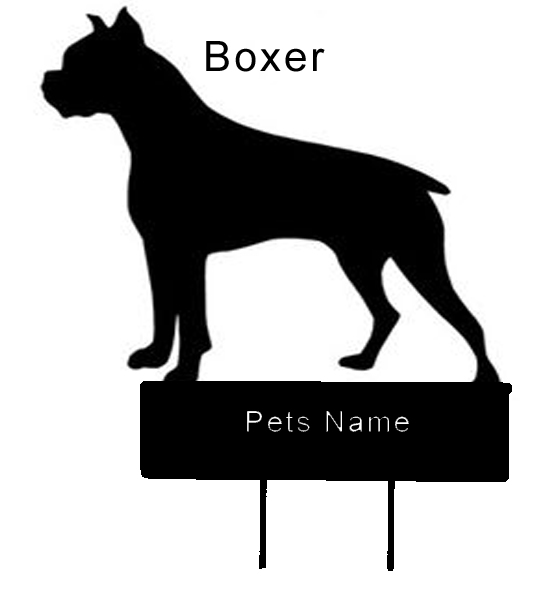 Boxer dog Grave Marker - Click Image to Close