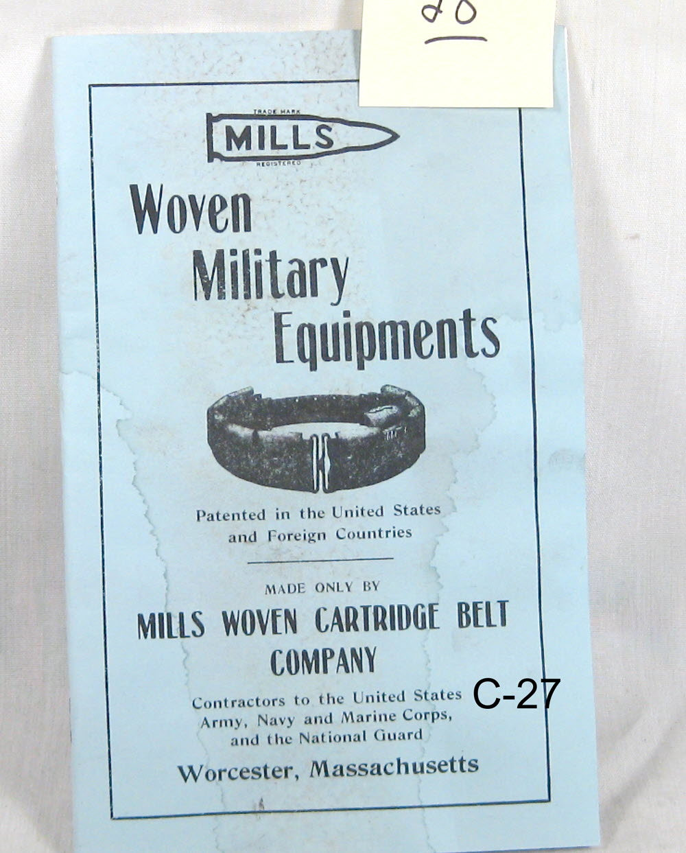 "WW1 Military book "" Woven Military equipment"" - Click Image to Close"