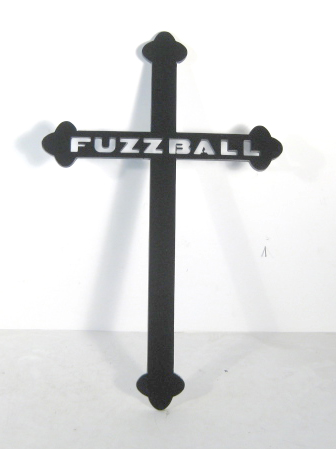 Cross with pets name cut into it - Click Image to Close
