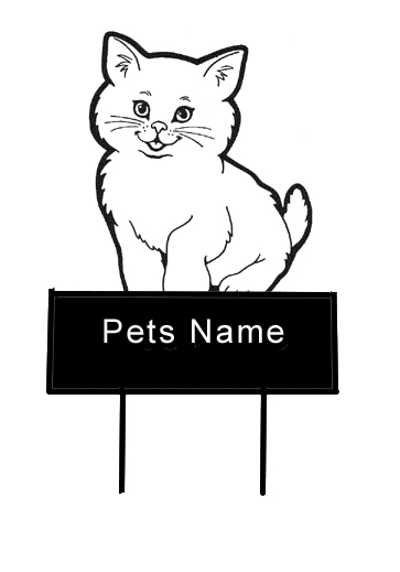 Cute Kitty grave marker - Click Image to Close
