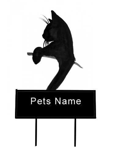 Leaning Cat grave Marker - Click Image to Close