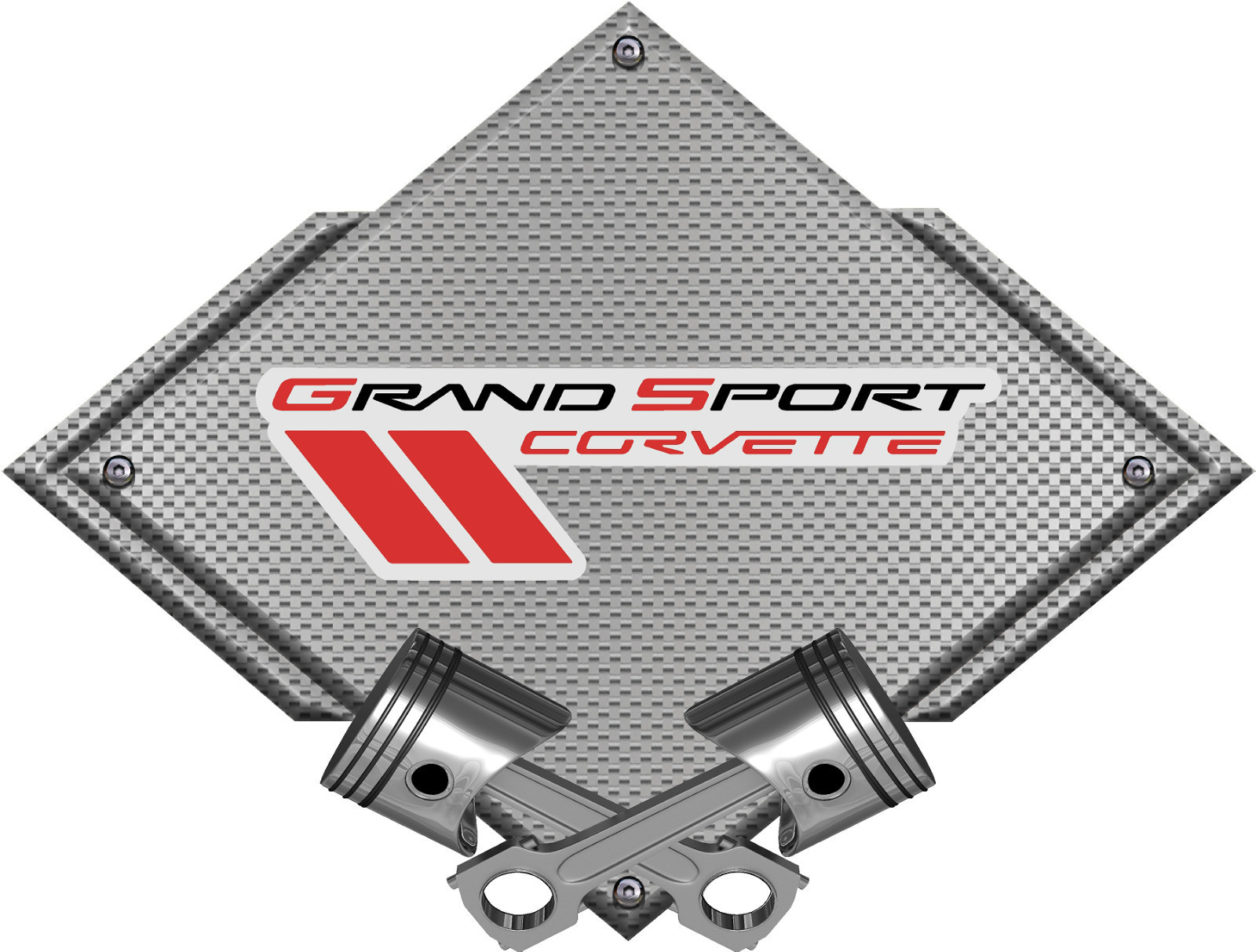 Corvette Grand Sport emblem - Click Image to Close