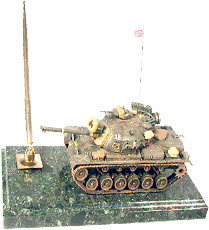 M 48 patton tank on marble
