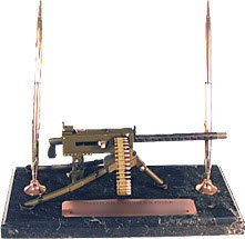 30 cal machine gun air cooled on marble