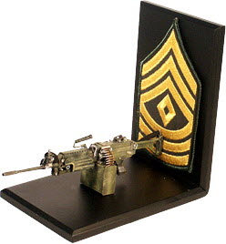 SAWS machine gun / sgt stripes - Click Image to Close