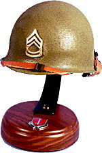 GI Sgt 1/2 scale helmet wood base