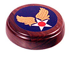 Army air corps decal on wood