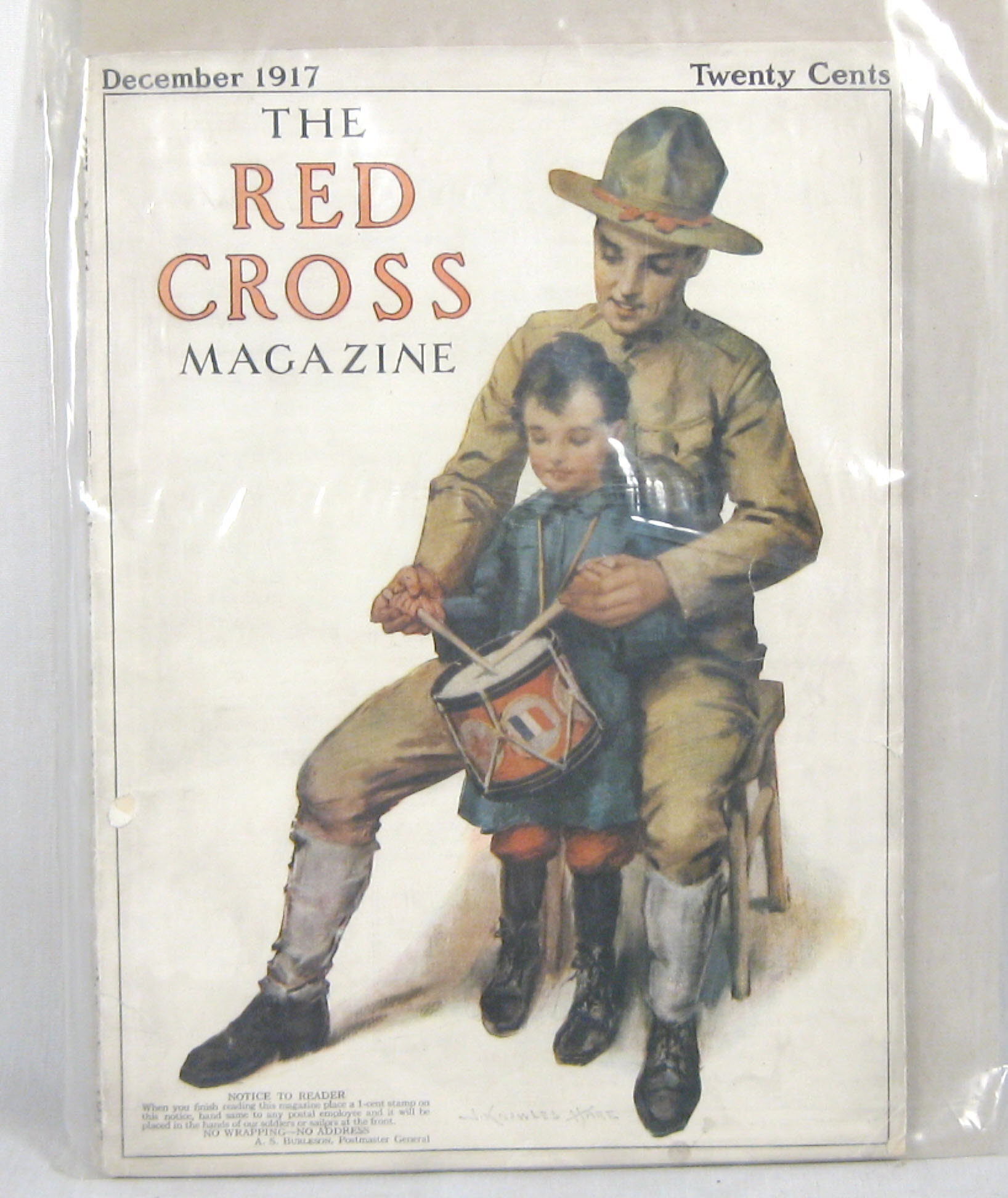 WW1 Vintage Red Cross magazine Dec 1917 - Click Image to Close