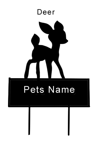 Deer ( Bambi ) Grave Marker - Click Image to Close