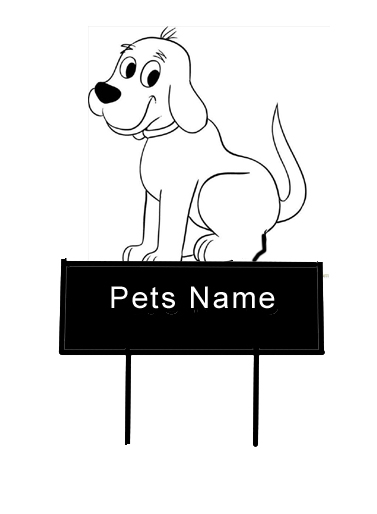 Friendly Dog grave Marker - Click Image to Close