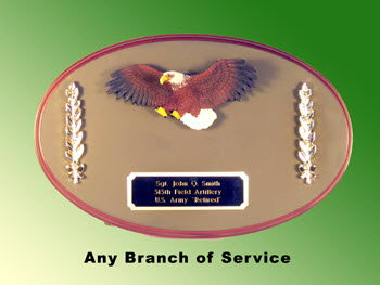 U.S. Army oval eagle plaque