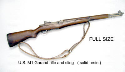 U.S. M1 Garand rifle solid resin --with sling - Click Image to Close