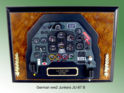 German WW2 Junkers JU-87 B inst panel - Click Image to Close