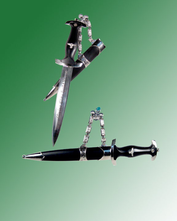 German dress uniform dagger with chain - Click Image to Close