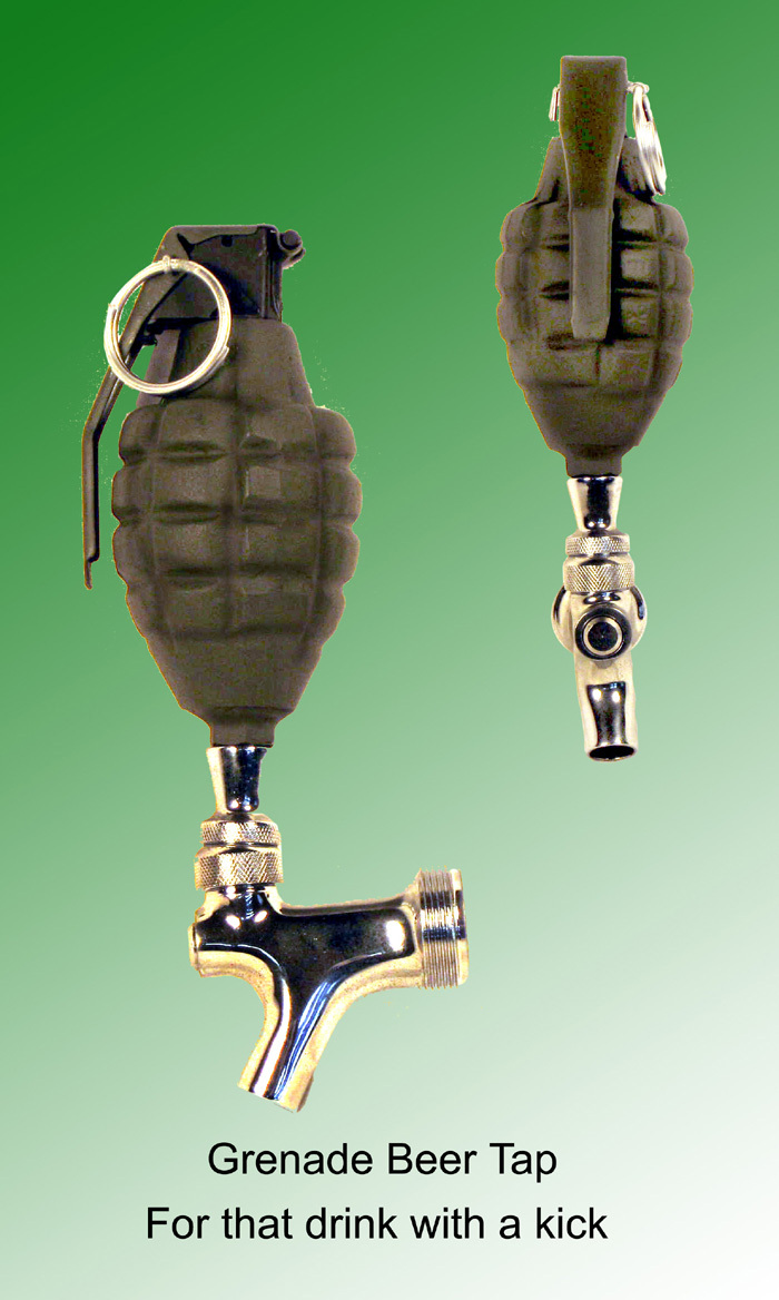 Grenade as beer tap handle - Click Image to Close
