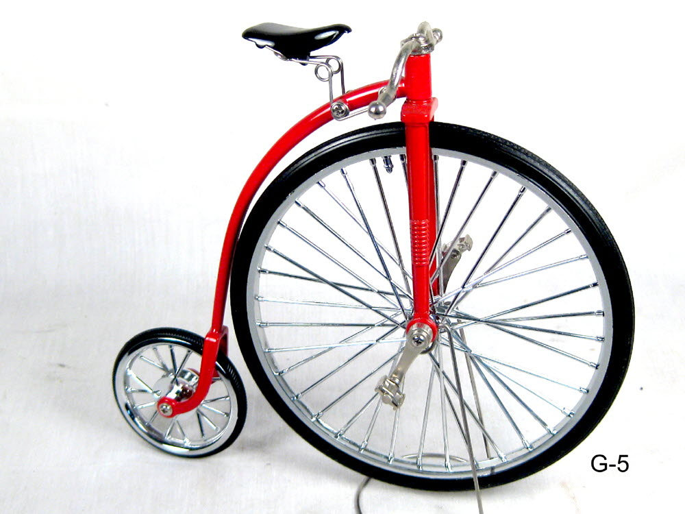 Old style high wheel bicycle - Click Image to Close
