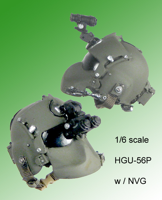 Helicopter helmet HGU-56P w/face shield 1/6 th - Click Image to Close