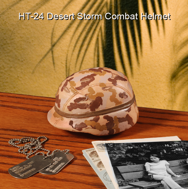 Desert Storm era G.I. helmet in 1/4 scale - Click Image to Close