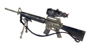 M16A2 with PVS-4 night scope & foldable bipod - Click Image to Close