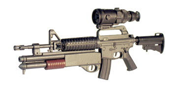 M16A2 w/shot gun and PVS-4 Night scope