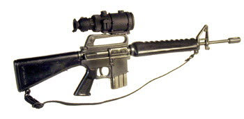 M16A1 with PVS-4 night scope - Click Image to Close