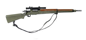 WW1 Springfield rifle with short scope