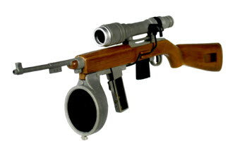 M1 Carbine with night scope bottom mount