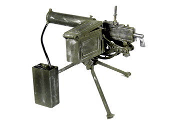 30 cal water cooled machine gun with water tank - Click Image to Close