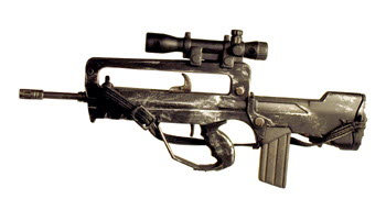 French Famas G2 Commando rifle w/ Mil spec scope - Click Image to Close