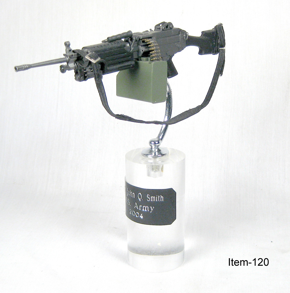 M-249 SAW on acry base - Click Image to Close