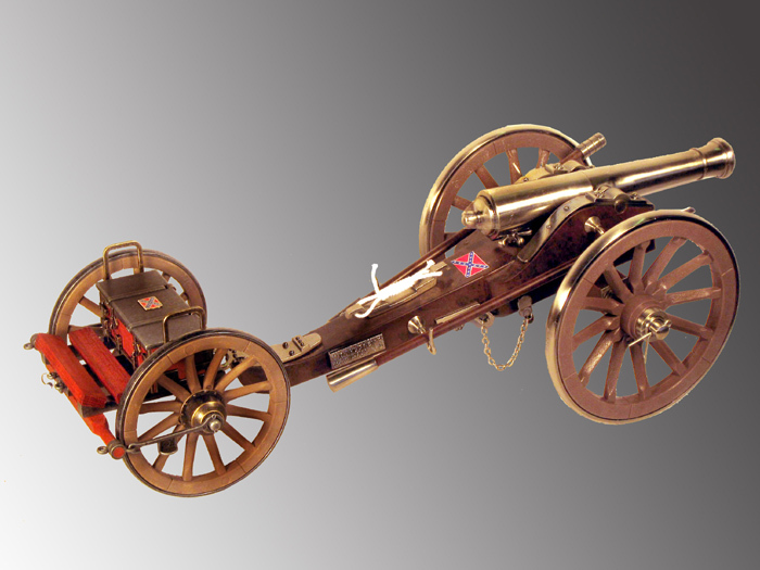 Large Civil War Cannon with LImber - Click Image to Close